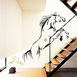 Vektenxi - Adhesivo de vinilo para pared, diseño de caballo negro