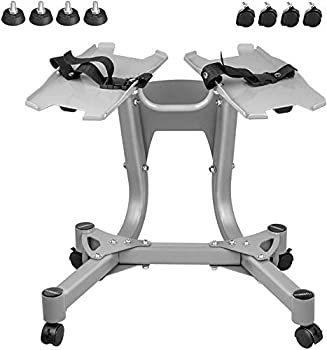 Okayplay Upgrade Dumbbell Stand Metal 330LBS Dumbbell Rack Stand Only Fixed Seat Belt Weight Stand for Dumbbells for Home Gym only Stand