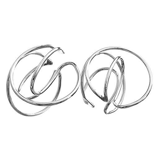 gerFogoo Pendientes para mujer, diseño geométrico, sin piercing, estilo 2