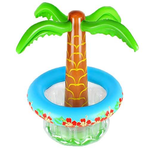 Luckyshuai Coconut Tree Drink Holder Gonfiabile Benna GiaCè Frutta Ghiaccio Benna Acqua Benna Matrimonio Beaid Beach Beach Fornitura di rifornimento per Feste Accessori per Piscina Piscine Accessori