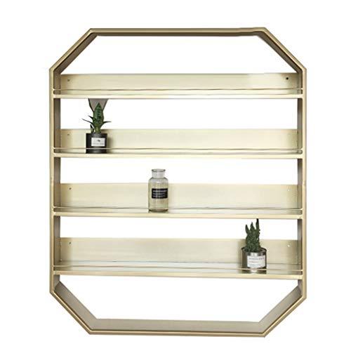 Meerlaags cosmeticarek voor wandmontage wandrek van metaal vitrine