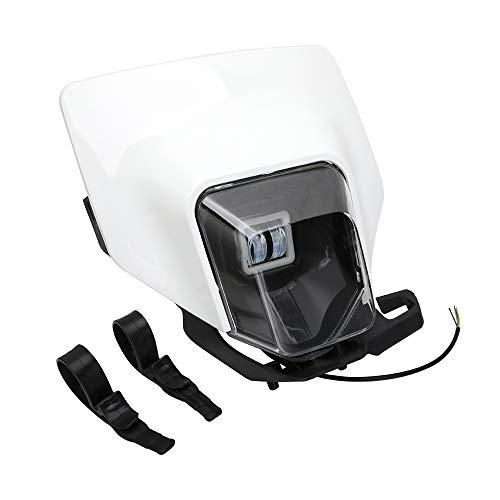 USTPO - Mascherina per faro da moto, compatibile con Hus.qvarna FC250 FC350 FE250 FE250 FE350 FX350 FX350 Dirt Bike Motocross Enduro Supermoto, colore: Bianco