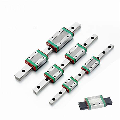 RUNGUANG LIGHTS Guía Lineal Rail MGN12 MGN9 MGN15 MGN7 CNC Piezas de Impresora 3D Miniatura Guía Lineal en Miniatura Carro Deslizante L100 350 400 500 600 800mm (Color : MGN9C, Guide Length : 200mm)