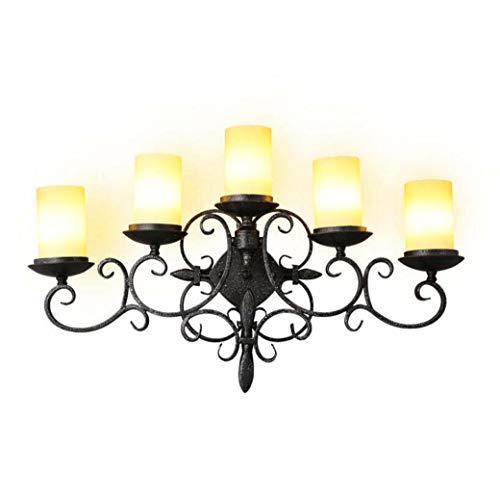 Wandlamp - wandlamp kaarsen met meerdere koppen van smeedijzer creatief bedlampje voor slaapkamer restaurant wanddecoratie wandlamp E14, 110V-220V