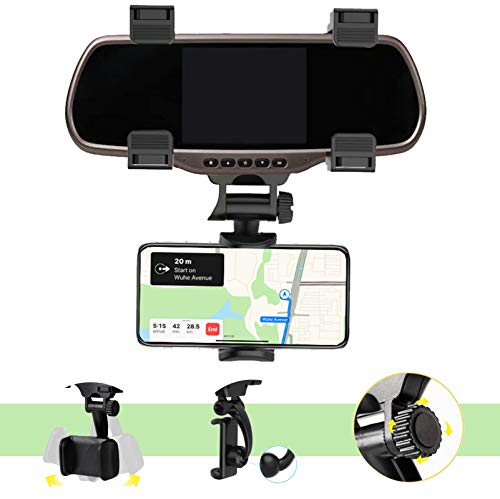 Kokuji Car Rearview Mirror Mobile Phone Stands Navigation Bracket Adjustable Telescopic Mobile Phone Holder snap-on Mobile Phone Holder Multi-Function Model Universal