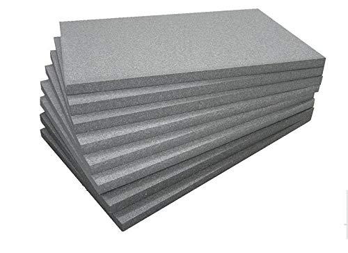 FUTURAZeta - Polistirolo – EPS 100 GRAFITE Densità Maggiorata 20 Kg/Mc - Pannelli per isolamento termico a prestazioni migliorate – Spessore 3 cm. Sistema Cappotto. (10 Pan. - 5 Mq.)