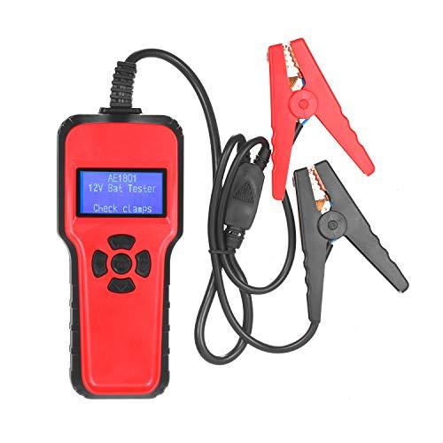 KKmoon Comprobador de batería de coche eléctrico Medidores de batería para coche digital AE 1801 Probador de batería de coche Dispositivo de prueba de capacidad de batería Sistema de carga