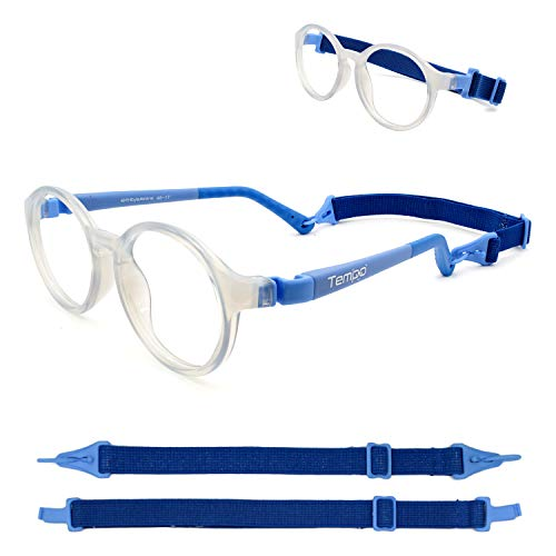 Tempo Ultra: 3001113 Unbreakable Kids Glasses with Headstrap Age 5-9Yr | Frost White