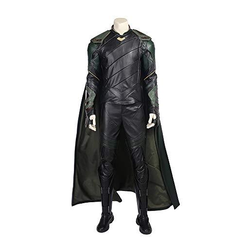 Loki de Thor 3 Disfraz de Cosplay Marvel Avengers Disfraces de superhéroe Chaleco, top, pantalones, capa, zapatos Disfraces de Halloween Fiesta de disfraces de Cosplay Accesorios,Loki-Custom size