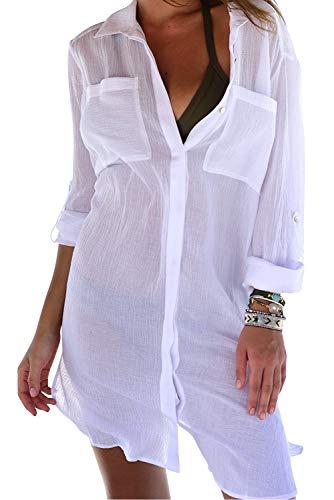 Mujer Mini Ropa de Playa Piscina Transparente Bikini Cover Up Traje de...