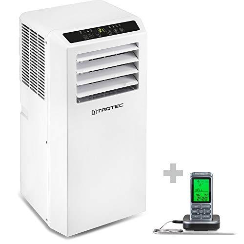 TROTEC Aire Acondicionado Portátil PAC 2010 SH + Termómetro de Barbacoa BT40 / 4 en 1: Refrigeración, Calefacción, Ventilación y Deshumidificación/Mando a Distancia/Hasta 26m²