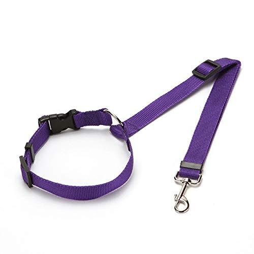 Cinturón de cuero para mascotas, práctico y ordinario para perros y gatos, ajustable para coche, cinturón de piel, cinturón de viaje, para viajes