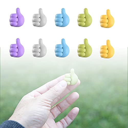 10pcs small hand hook data cable storage clip wire clip,multifunctional clip holder thumb shape storage rack wall hook,thumb shape storage rack multifunctional clip holder