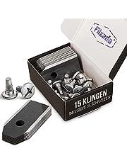 Filzada® Tytanowy nóż czarny nadaje się do wszystkich kosiarek Husqvarna Automower - bardzo ostre ostrza wymienne - w zestawie śruby - noże do kosiarek automatycznych Husqvarna 305, 308, 310, 315, 320, 420 i wielu innych.