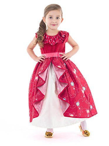 Little Adventures Ruby Princess Dress Up Costume (X-Large Age 7-9)