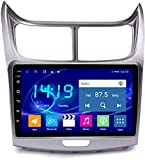 Hesolo La Radio del Reproductor Multimedia para automóvil es Compatible con Chevrolet Sail Navigator Navegación GPS automática Máquina integrada Instalación Adecuada en CarPlay 4G + 64G