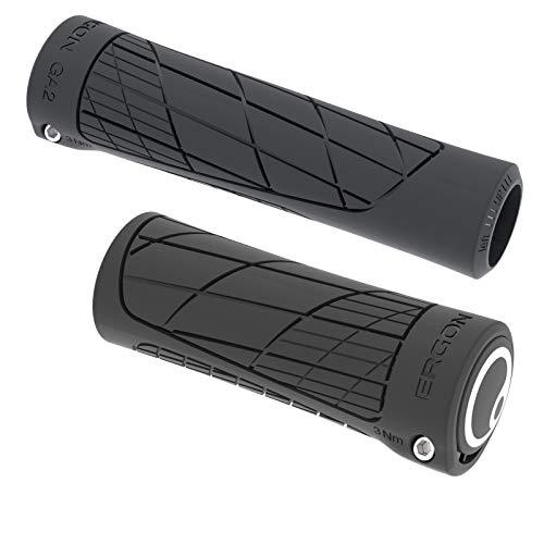 Ergon - GA2 Ergonomic Lock-on Bicycle Handlebar Grips   Single Twist Shift Compatibility   for Mountain Bikes   Black