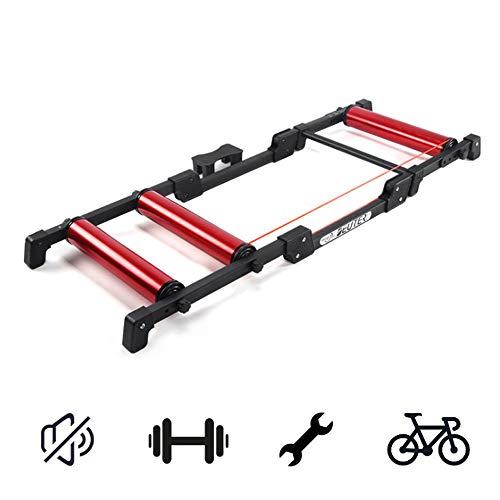 Magnético Del Soporte De Ciclo, Bicicleta Trainer Soporte Plegable Bicicletas Silencioso Rodillo...
