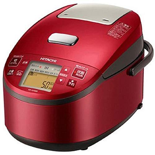 日立 炊飯器 5.5合 圧力&スチームIH ふっくら御膳 本体日本製 黒厚鉄釜 蒸気カット RZ-AX10M R メタリックレッド