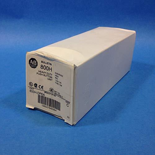 ALLEN BRADLEY 800H-DP6A Bulletin 800H, Mushroom Head, RED, Push Button, Heavy Duty, 1NO/1NC, Type 7&9