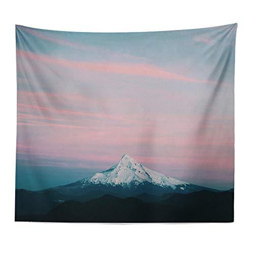 Tapiz de pared de montaña rosa, decoración boho, tapices de tela para pared, tapete de yoga, tapiz de poliéster, alfombra para colgar en la pared, decoración del hogar, 150x130cm / 59x51inchch