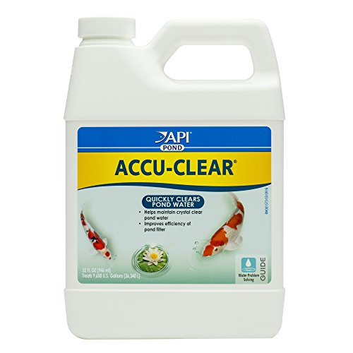 API POND ACCU-CLEAR Pond Water Clarifier 32-Ounce Bottle