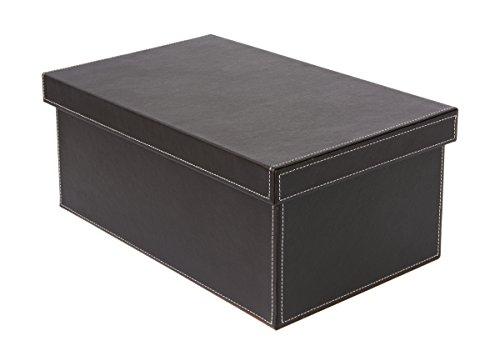 Osco BPUDVD Luxus Faux Leder, Schreibtischzubehör und Ablage, braun