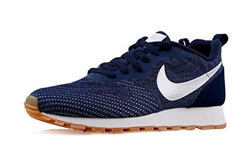 Nike MD Runner 2 Eng Mesh, Zapatillas Hombre, Azul (Midnight Navy/Metallic Silver-Gym Blue 402), 42.5 EU