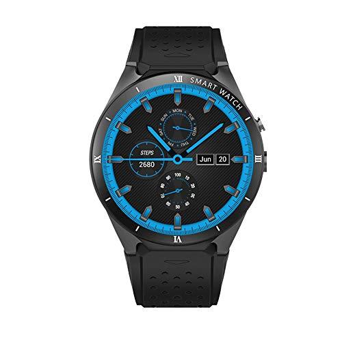 HX0945 Smart Watch KW88 Pro Android 7.0 OS Smartwatch 1GROA + 16GRAM Unterstützung SIM-Karte Bluetooth-Uhr-Smart-Männer Für IOS,Schwarz
