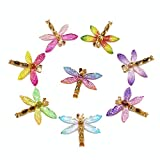 XQingmei 40 Pieces Color Cartoon Dragonfly Flatback Resin Decoration Accessories Crystal Mud Stuffing Cute Girl Charm Embellishments DIY Hair Clip Phone Case Ornament Scrapbook Crafts Suit