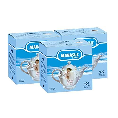 MANASUL Classic - Infusión Laxante a base de Sen, Melisa, Menta, Regaliz y Anis Verde, 100% Natural sin Conservantes ni Añadidos. 3 Cajas de 100 Bolsitas.