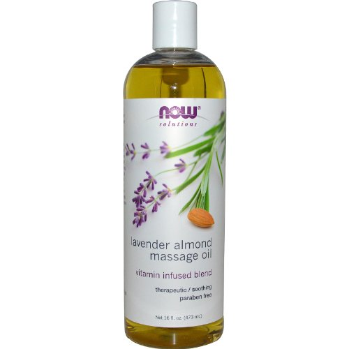 NOW Foods NOW Solutions Massage Oil Lavender Almond - 16 fl oz