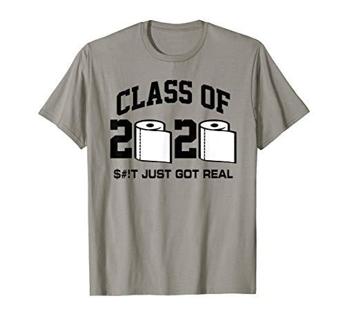 Funny Class of 2020 Senior Quarantined Toliet Paper T-Shirt