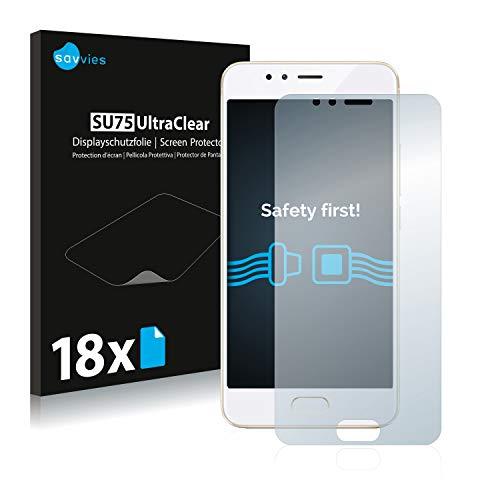 Savvies 18x Schutzfolie kompatibel mit Meizu M5s Bildschirmschutz-Folie Ultra-transparent