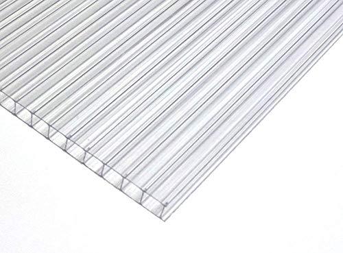Polycarbonat Dachplatte Stegplatte Dick: 4 mm Farbe: KLAR Größe: 705 mm x 1387 mm. für Terrasse | Carport.Gartenhaus