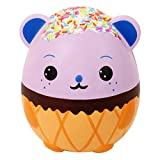 Anboor 5.5' Squishies Jumbo Panda Egg Creamy Candy Ice Cream Slow Rising Scented Kawaii Squishies Animal Toy for Collection,1 Pcs