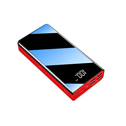 PIANAI Mobile Handy Portable Power Bank 50000mah Power Bank Ladegerät Telefon Batterie Power Bank Slim Power Bank High Capacity Power Bank USB Tragbare Ladegerät Power Banken,Rot,60000mAh