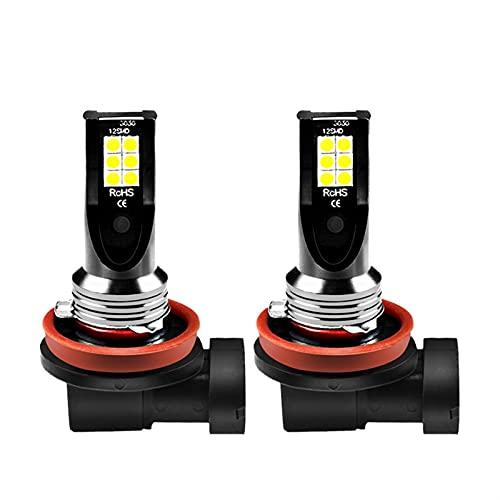 youyu6-2o521 Faros LED 2PCS H8 H11 3030 12SMD Carro DIRIGIÓ Bombillas 1 2V 6000K Luces de Funcionamiento del día de la lámpara de Niebla Blanca El Ahorro de energía