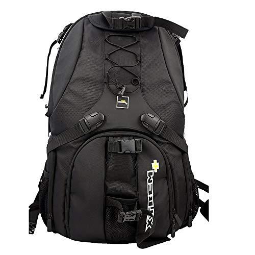 XTREMplus Active Cube X Rucksack - Premium Foto Kamerarucksack - Kamera Rucksack mit Zugriff über die Seiten und Laptopfach - Slingbag - (H:51cm B:33cm T:27cm Gewicht:1,69kg)