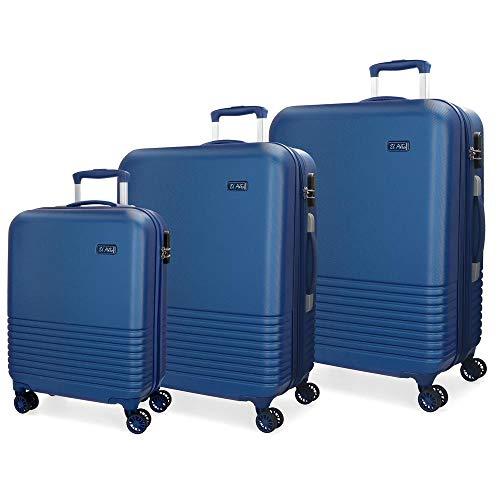 Juego de maletas El Potro Ride Azul 55-69-79cm