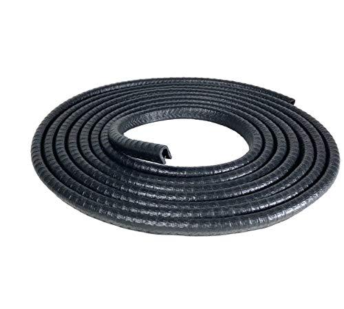 Petit joint noir en U, hauteur 0,95cm, compatible avec épaisseurs allant de 0,1 à 0,23cm