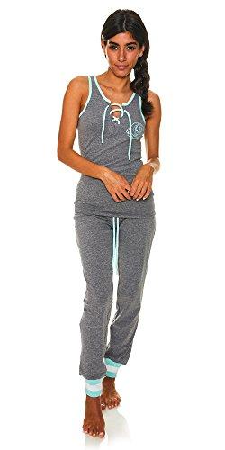 Price comparison product image U.S. Polo Assn. Womens 2 Piece T-Shirt Lounge Pants Pajama Sleepwear Set Charcoal Heather Large