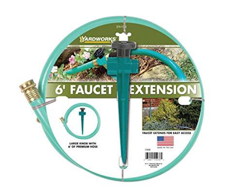Yardworks 5/8 inch x 6 ft Faucet Extension Garden Hose Kit Vinyl, 500...