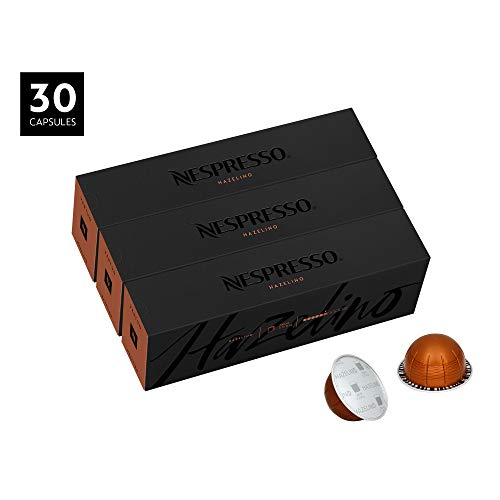Nespresso Capsules VertuoLine, Hazelino, Medium Roast Coffee, 30 Count Coffee Pods, Brews 7.8oz