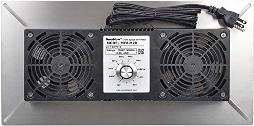 powerful Durablow MFB M2D Air-Out 304 Stainless Steel Suspended room base fan with two fans +…