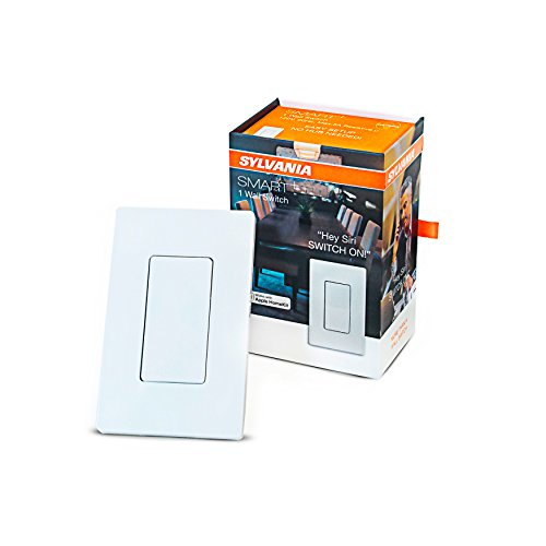 SYLVANIA General Lighting Sylvania Smart 78060 Bluetooth in Wall Switch, Works with Apple HomeKit and Siri Voice Control, No Hub Required, 1 Pack