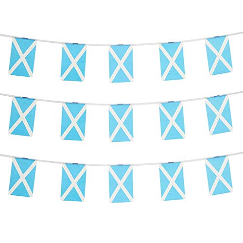 Scotland Flags Scottish Small String Mini Flag Pennant Banner Decorations