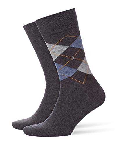 Burlington Herren Socken, Everyday Mix M SO, 2 Paar, Grau (Anthracite Melange 3081), 40-46