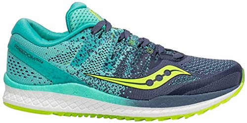 Saucony Women's Freedom ISO 2, Grey/Teal, 9 B