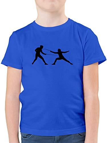 Sport Kind - Fechten - 152 (12/13 Jahre) - Royalblau - fechten Tshirt Kinder - F130K - Kinder Tshirts und T-Shirt für Jungen